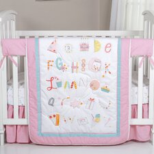 Alphabet Cake 4 Piece Crib Bedding Set