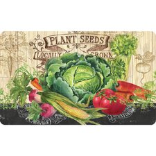 Malia Plant Seeds Kitchen Mat