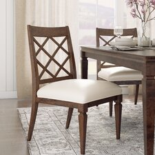 Maddison Genuine Leather Upholstered Dining Chair (Set of 2)