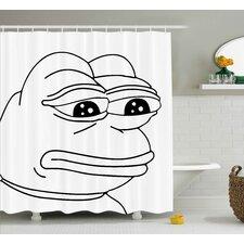 Frog Meme Decor Shower Curtain