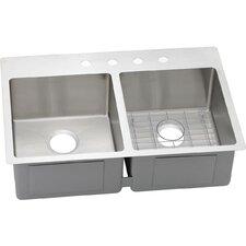 Crosstown Double Bowl Universal Undermount Kitchen Sink