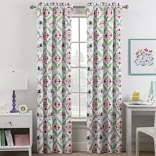 Waverly Kids Bollywood Geometric Blackout Rod Pocket Single Curtain Panel