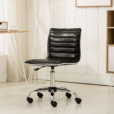 Shrum Chrome Adjustable Air Lift Office Mid-Back Desk Chair