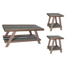 Halfeti 3 Piece Coffee Table Set