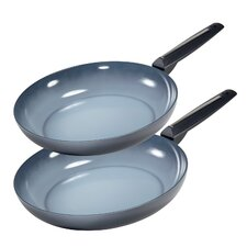 Azul 2 Piece Gres Non-Stick Frying Pan Set