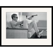 Gerahmtes Wandbild Time Life Steve McQueen Takes Aim