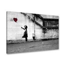 Gerahmtes Leinwandbild Hope von Banksy