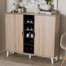 Jamar Wood Shoe Storage Cabinet