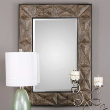 Rectangle Aged Wood Accent Mirror