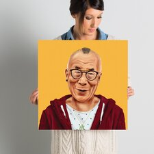 'Dalai Lama' Graphic Art on Wrapped Canvas