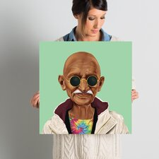 'Mahatma Gandhi' Graphic Art on Wrapped Canvas