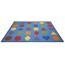 Lots of Shapes Blue Area Rug