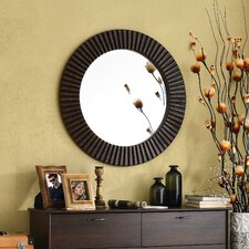 Round Bronze Wall Mirror