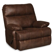 Rooney Solid Rocker Swivel Recliner with Padded Arms