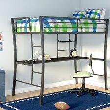 Dixie Twin Loft Bed with Desk