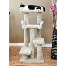 "46"" Unique Colorful Cat Condo"