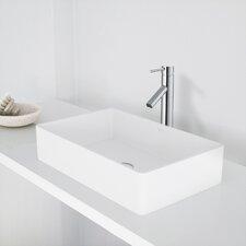 Magnolia Stone Rectangular Vessel Bathroom Sink