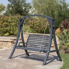 Brandi Outdoor Wood Porch Swing with Stand