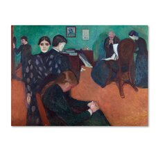 'Death In The Sickroom' by Edvard Munch Print on Wrapped Canvas