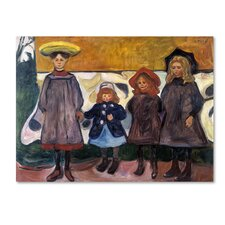 'Four Girls' by Edvard Munch Print on Wrapped Canvas