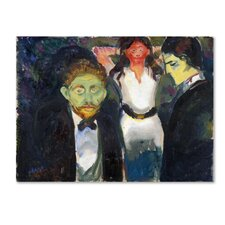 'Jealousy' by Edvard Munch Print on Wrapped Canvas