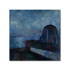 'Starry Night' by Edvard Munch Print on Wrapped Canvas
