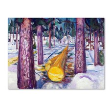'The Yellow Log' by Edvard Munch Print on Wrapped Canvas
