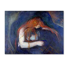'Vampire' by Edvard Munch Print on Wrapped Canvas