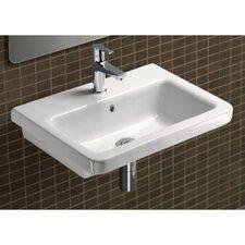 "City Ceramic 24"" Bathroom Sink with Overflow"