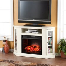 Dunminning Corner TV Stand with Electric Fireplace