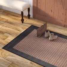 Owen Checkered Field Cocoa/Black Indoor/Outdoor Area Rug