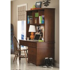 Williamsport Writing Desk with Hutch and Bow Back Desk Chair