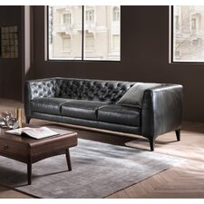 Rodolfo Leather  Chesterfield Sofa