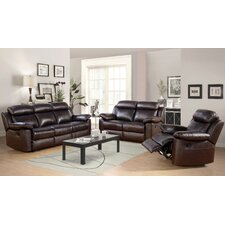 Thompson 3 Piece Leather Reclining Living Room Set