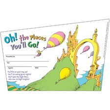Seuss-oh The Places Youll Go Name Tag (Set of 2)