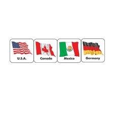 World Flags Sticker (Set of 4)