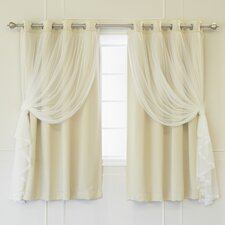 Braswell Solid Thermal Grommet Curtain Panels (Set of 2)