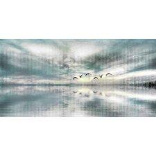 'Birds Skylight' by Parvez Taj Painting Print on Wrapped Canvas