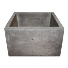 "Ventana 15"" x 15"" Stone Bar & Prep Kitchen Sink"