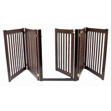 """Amish Handcrafted 32"""" Walk-Through 5 Panel Free Standing Gate"""