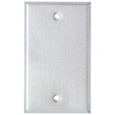 Oversize Blank 1 Gang Stainless Steel Metal Wall Plates