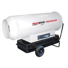 Direct Fired 350,000 BTU Portable Kerosene Forced Air Utility Heater