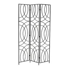 "69.25"" x 50.25"" Orb 3 Panel Room Divider"
