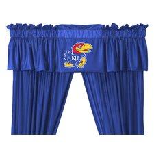"""NCAA 88"""" Kansas Jayhawks Curtain Valance"""