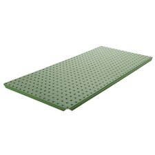Powder Coated Metal Pegboard Panels with Flange in Green
