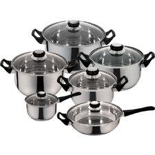 Monterrey 12 Piece Priminute Stainless Steel Cookware Set