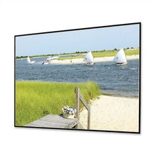 "Clarion with Veltex HiDef Grey 106"" diagonal Fixed Frame Projection Screen"