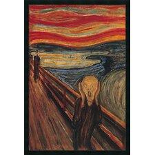 The Scream by Edvard Munch Framed Painting Print