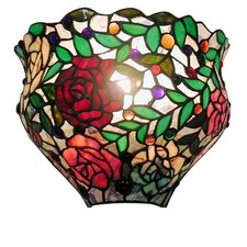 Red Rose 1-Light Wall Sconce