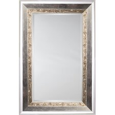Mirror Style 81114 - Polished Silver with Maze Detail